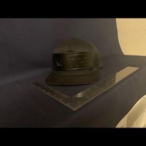 NSTPG Black Flat Brim Snap Back Hat